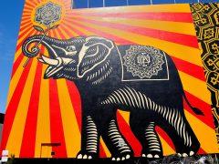 Peace Elephant mural